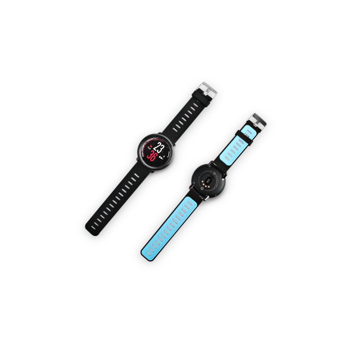 Huami Amazfit Smart Watch Silicone Strap - Black and Blue